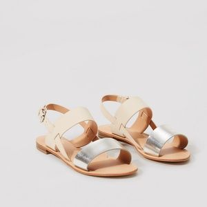 NWT Loft Shimmery Sandals w/ Box & Packaging